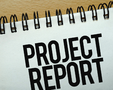 ITEMS TO BE INCLUDED IN THE PROJECT REPORT